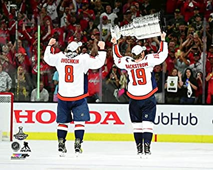 d056a832a Image Unavailable. Image not available for. Color: Alex Ovechkin & Nicklas  Backstrom 2018 Washington Capitals Stanley Cup ...
