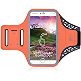 Adjustable Water Resistant Sports Armband - with Fingerprint Unlock Screen and Key Holder for iPhone 7 Plus/6 Plus/6S Plus(5.5 inch) and iPhone6/6S(4.7 inch)