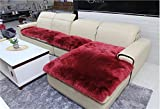 Genuine SheepSkin Rug,Kids Carpet Home Décor Accent For a Kid's Room,Childrens Bedroom, Nursery, Living Room or Bath, Bay Window Blanket,Sofa Cover,Burgundy 2.5'x 4'