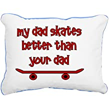 "CafePress - Mydadskatesbetterthanyou - 12""x15"" Canvas Pillow, Throw Pillow, Accent Pillow"