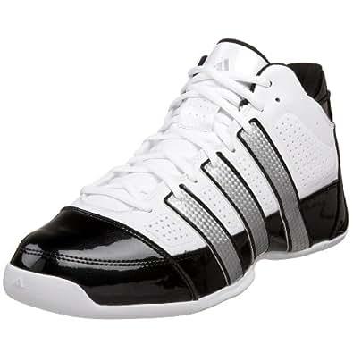 adidas Men's Commander Lite TD Basketball Shoe,Running White/Metallic Silver/Black,9.5 D US