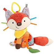 Bandana Buddies Baby Activity and Teething Toy with Multi-Sensory Rattle and Textures, Fox
