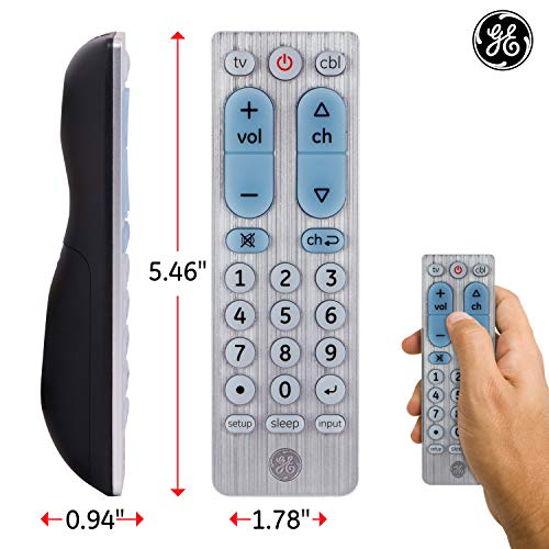 GE 2 Device Universal Remote, Works with Smart TVs, LG, Sony