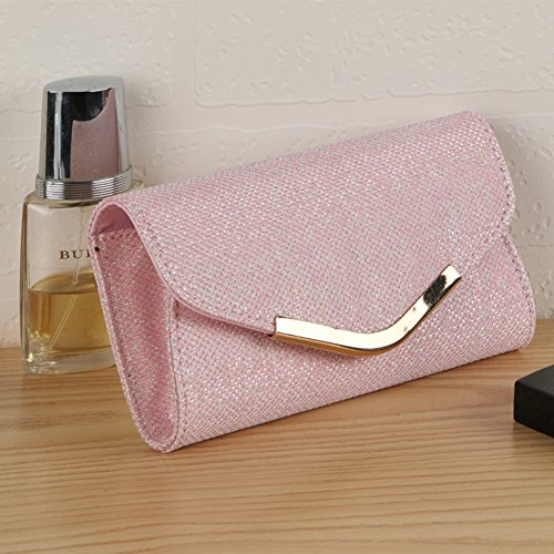 Glitter Clearance Cocktail Luxury Evening Purse Women's angel3292 Clutch Deals Party Bling Bag Wedding Pink XqgaUw