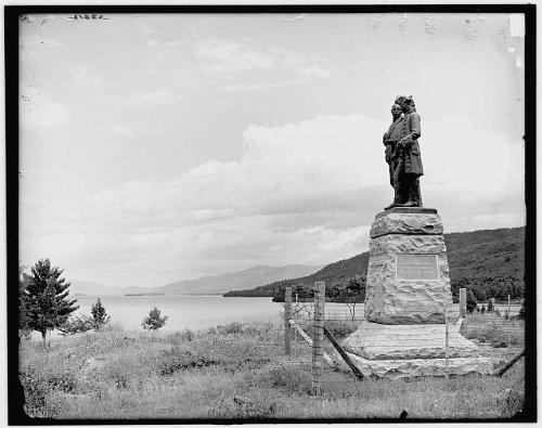 Photo: Battle Monument,Lake George,sculptures,New York,NY,Detroit Publishing - Shopping George Lake Ny