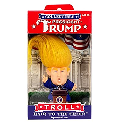 TG,LLC Treasure Gurus US President Donald J Trump Hair Troll Doll Funny Novelty Gag Gift: Home & Kitchen