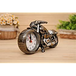 FinerMe Vintage Mini Motorcycle/Bicycle Model Alarm Clock Battery Powered desk shelf clock Creative Christmas Gifts (Motorcycle model)