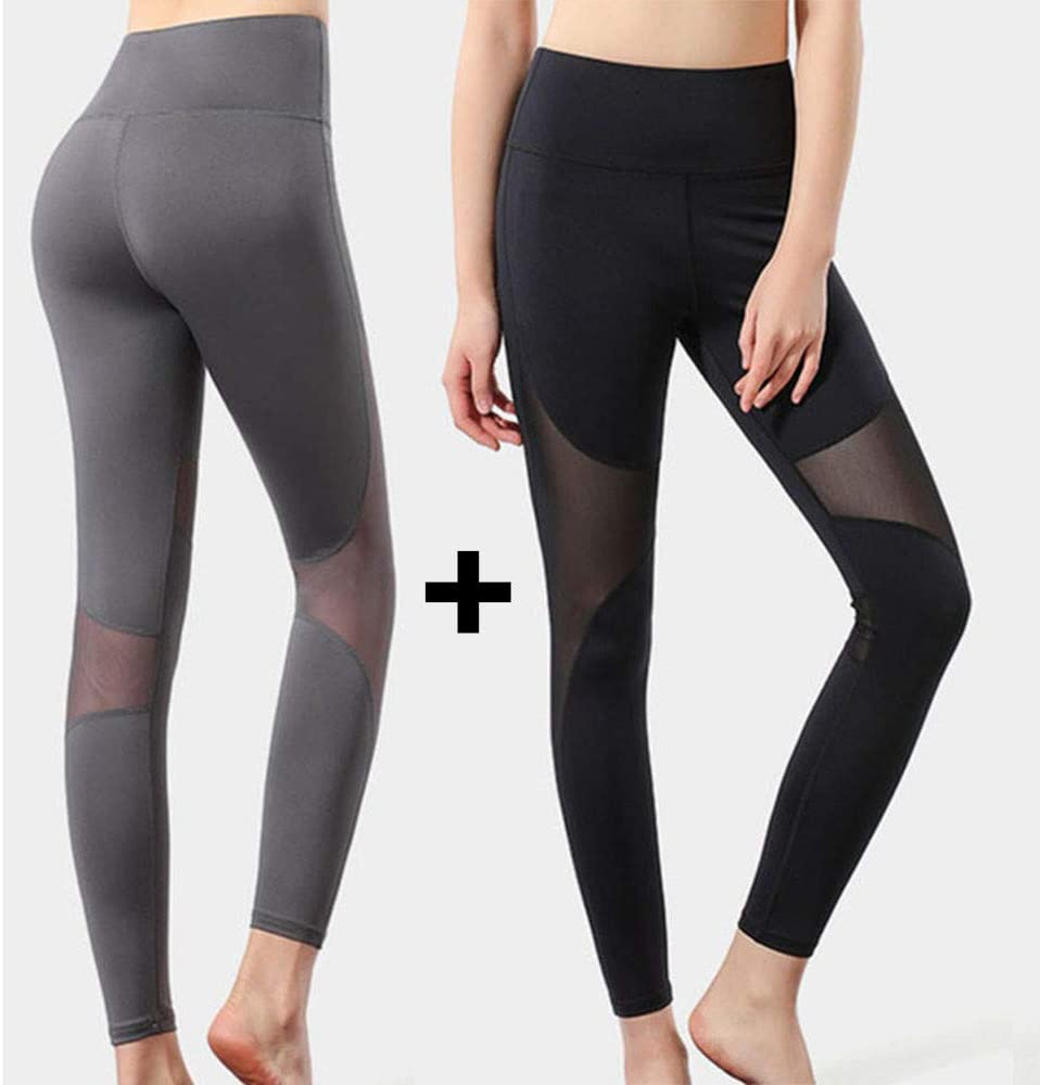 Plus Size Yoga Leggings Sports Exercise Running Pants Fitness Workout Clothes