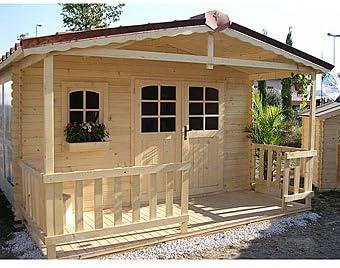 Jet-Line Haus Nicoleta - Casa de Madera para Jardín: Amazon.es: Jardín