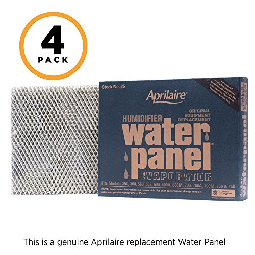 Aprilaire 35 Replacement Water Panel for Aprilaire Whole House Humidifier Models 350, 360, 560, 568, 600, 600A, 600M, 700, 700A, 700M, 760, 768 (Pack of 4) ()