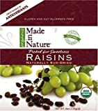 Made In Nature Organic Raisins, Dried and Unsulfured, 6-Ounce Bags (Pack of 12)