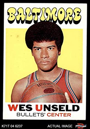 f4558fbf2b0e 1971 Topps   95 Wes Unseld Baltimore Bullets (Wizards) (Basketball Card)  Dean s
