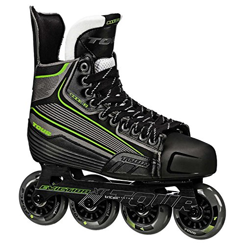 Tour Hockey Code 9 SR Inline Hockey Skate, Black/White/Red, 08