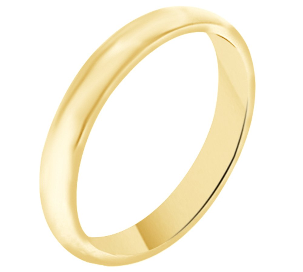 Solid 10k Yellow Gold 3MM Comfort Fit Men & Women Wedding Band Ring