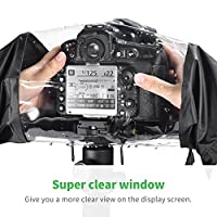 Zecti Waterproof Rain Cover Camera Protector for Canon Nikon DSLR Cameras Color: Black from Zecti