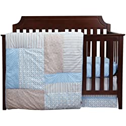 Trend Lab Logan Boy's 3 Piece Crib Bedding Set, Blue