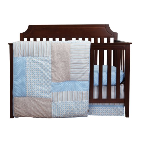Trend Lab Logan 3 Piece Crib Bedding Set, Blue