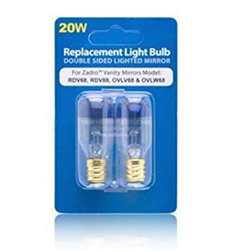 Zadro 20 watt replacement light bulb for vanity mirrors amazon zadro 20 watt replacement light bulb for vanity mirrors aloadofball Images