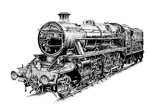 Steam Engine Vintage Train Edible Cake Image Topper 1/4 Sheet ()