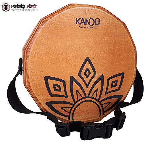 KTÄK -The First Handcrafted, Hand Drum Percussion, Two-Sound Cajón Body Snare, Portable Cajon by Kandu (Nut Brown)