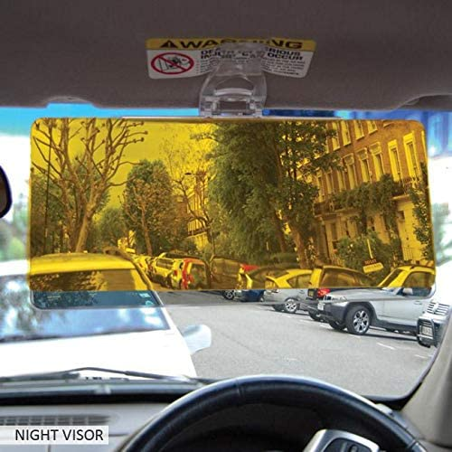 Drive more Safely Glare Reducing Clarity and Contrast Day /& Night Car Visor Pack of 2 Simply Clip-Fit onto Your Visor See more Clearly No Tools Required Easylife Lifestyle Solutions