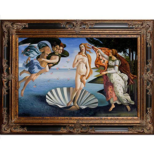 - La Pastiche Birth of Venus with Excalibur Framed Oil Painting, 46.5