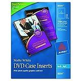 Avery 8891 Inkjet DVD Case Inserts, Matte White (Pack of 20)