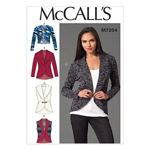 McCall's Patterns M7254 Misses' Cardigans, Y (X-Small-Small-Medium)