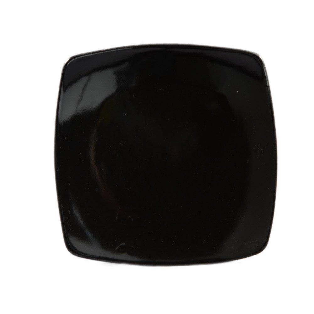 CAC China R-FS8 BLACK Stoneware Square Flat Plate, 8-7/8-Inch, Black, Box of 24