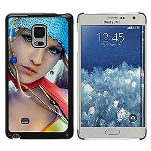 TaiTech / Case Cover Housse Coque étui - Bleu Eyed Girl - Samsung Galaxy Mega 5.8