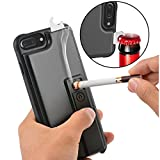 iPhone 7 Plus Case, ZVE Multifunctional Lighter Case Durable Shockproof Protective Cover with Cigarette Lighter, Bottle Opener for Apple iPhone 7 Plus (2016) 5.5 Inch - Black (Wireless Phone Accessory)