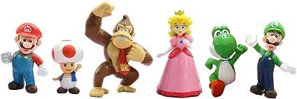 cake and cup cake topper,Super Mario mini toys Super Mario childrens birthday shower party supplies 18PCS Super Mario cake topper