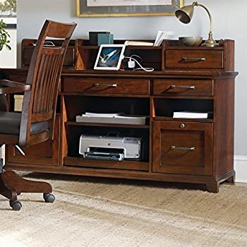Hooker Furniture Wendover Computer Credenza and Hutch in Cherry