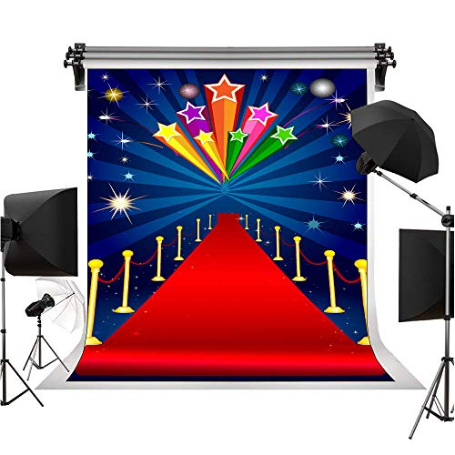 6 X 9 FT (180cm Width X 270cm Hight) Red Carpet Wedding Themed Backdrop for Wedding Party Family Celebration Photography Background Photo Booth Screen Backdrop or YouTube Background Props TMST022]()