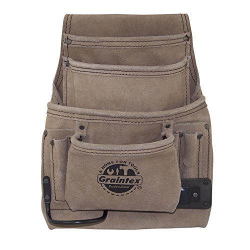 (Graintex SS2180 10 Pocket Nail & Tool Pouch Suede Leather)