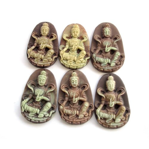 Two layer natural stone tibetan buddhist kwan yin buddha for Zen culture jewelry reviews