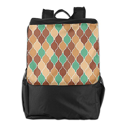 Newfood Ss Vintage Style Arabic Ornamental Figures Lattice Eastern Culture Pattern Outdoor Travel Backpack Bag For Men And Women Eastern Lattice