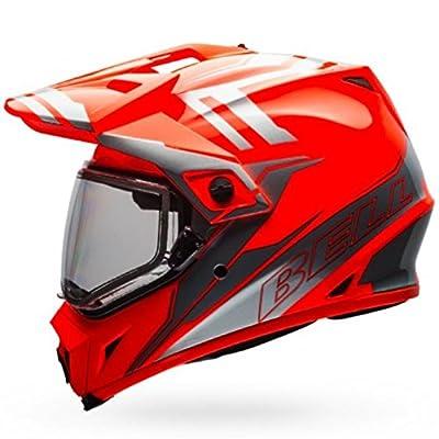 Bell MX-9 Adventure Snow Dual Shield Helmet - Orange / Silver - Large