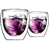 [ボダム] bodum パヴィーナ ダブルウォールグラス 250ml(2個セット) 4558-10 [並行輸入品]