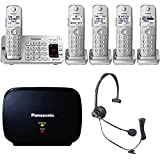 Panasonic KX-TGE475S Link2Cell Bluetooth Phone 5 Handsets Machine Bundle