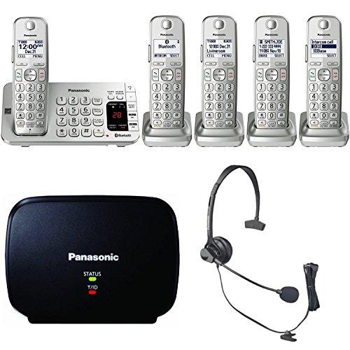 Panasonic KX-TGE475S Link2Cell Bluetooth Phone 5 Handsets Machine Bundle