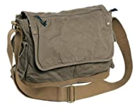 "Vagabond Traveler 15"" Casual Style Canvas Laptop Messenger Bag C31"