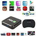 [2017 Free Wireless Mini Keyboard] WIIKEE A96S Amlogic S905X Quad Core Android TV Box with Add-ons Fully Loaded Android 6.0 2G/8G H.265 4K UHD 3D WiFi 2.4G Unlocked Google Streaming Media Player