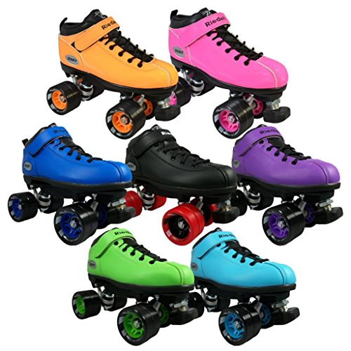 Riedell Dart Quad Roller Derby Speed Skates, Pink,Mens 5 / Ladies (Riedell Skates Sizing)