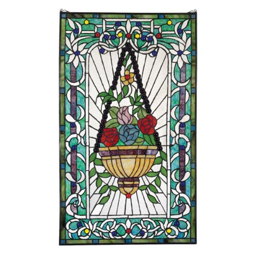 Stained Glass Panel - Le Fenetre des Fleurs (Window of Flowers