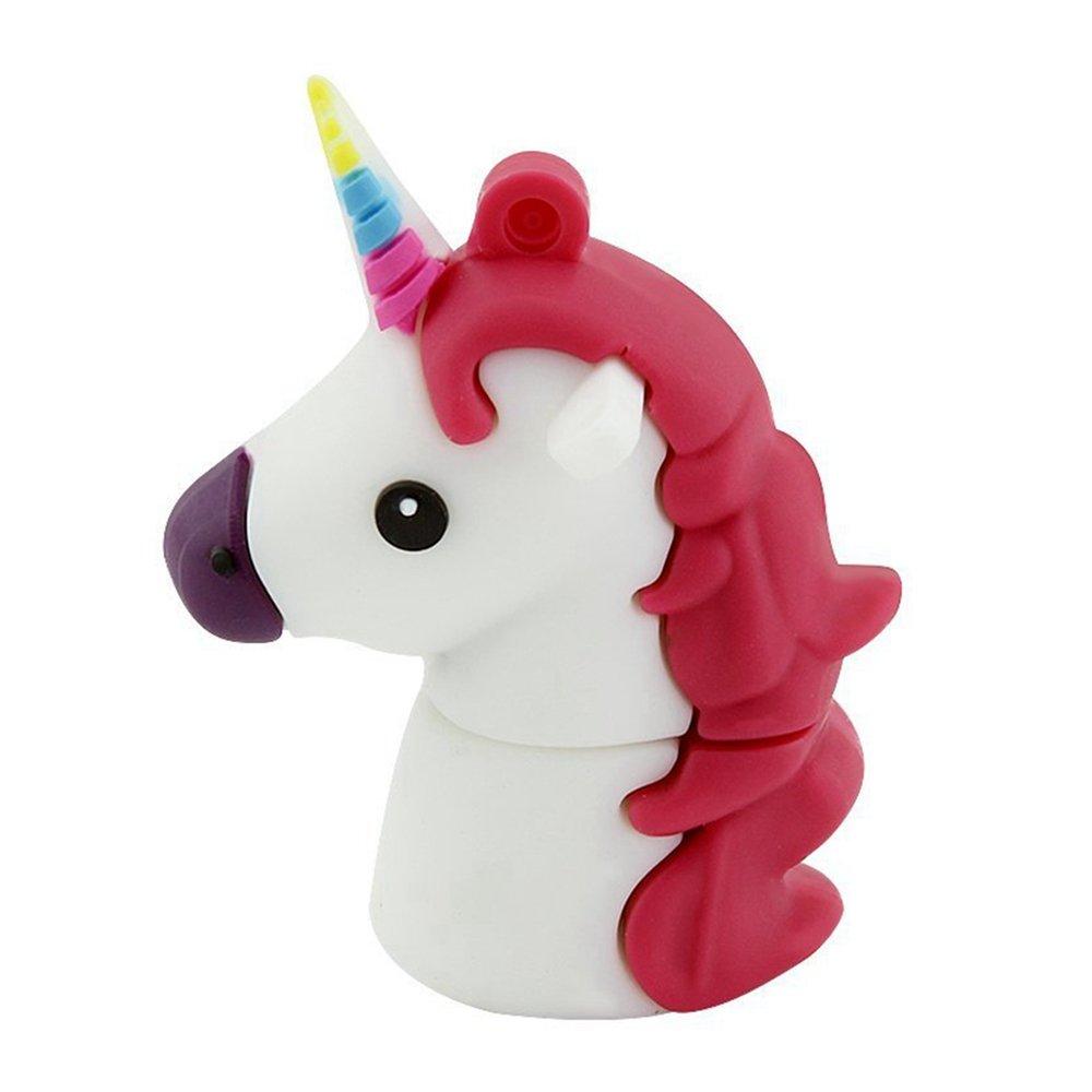 Aneew 16GB Cartoon Cute Unicorn USB Flash Drive Animal Horse Memory Thumb Stick Pendrive