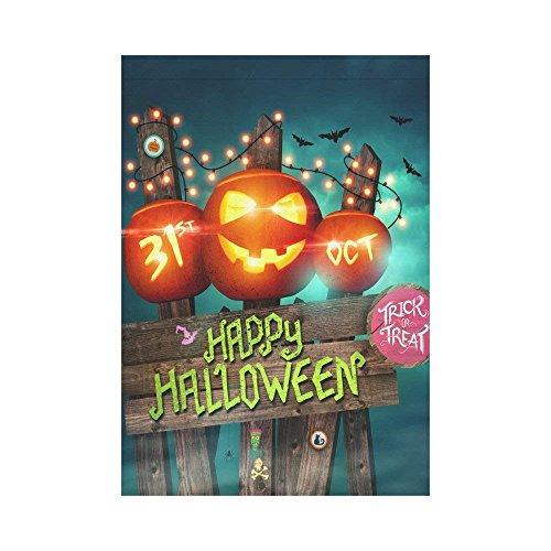 WAZZIT Halloween Night with Pumpkin Light Polyester Garden F