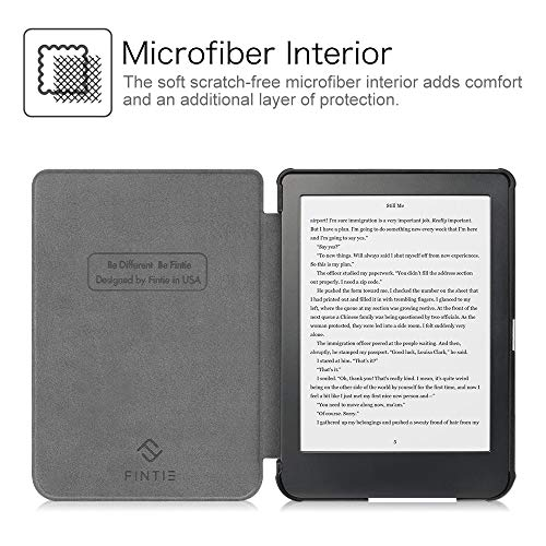 """Fintie SlimShell Case for Kobo Clara HD - Ultra Thin and Lightweight PU Leather Protective Cover with Auto Sleep/Wake for Kobo Clara HD 6"""" eReader, Library"""