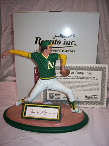 Rollie Fingers Autographed Romito Figurine - Rollie Fingers Autographed Baseball