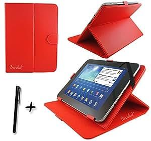 La cubierta de cuero rojo de la PU bestdeal para tableta Dell latitud 10 25.65 cm pulgadas ordenador personal aguja+